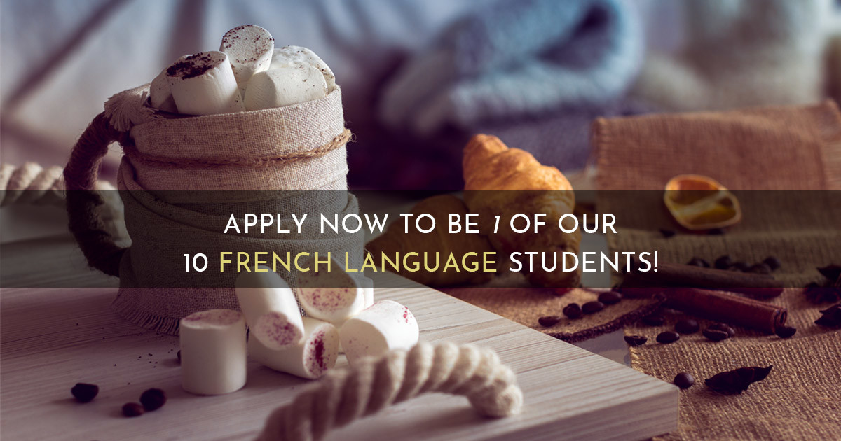 Apply Now To Be 1 Of Our 10 French Language Students!