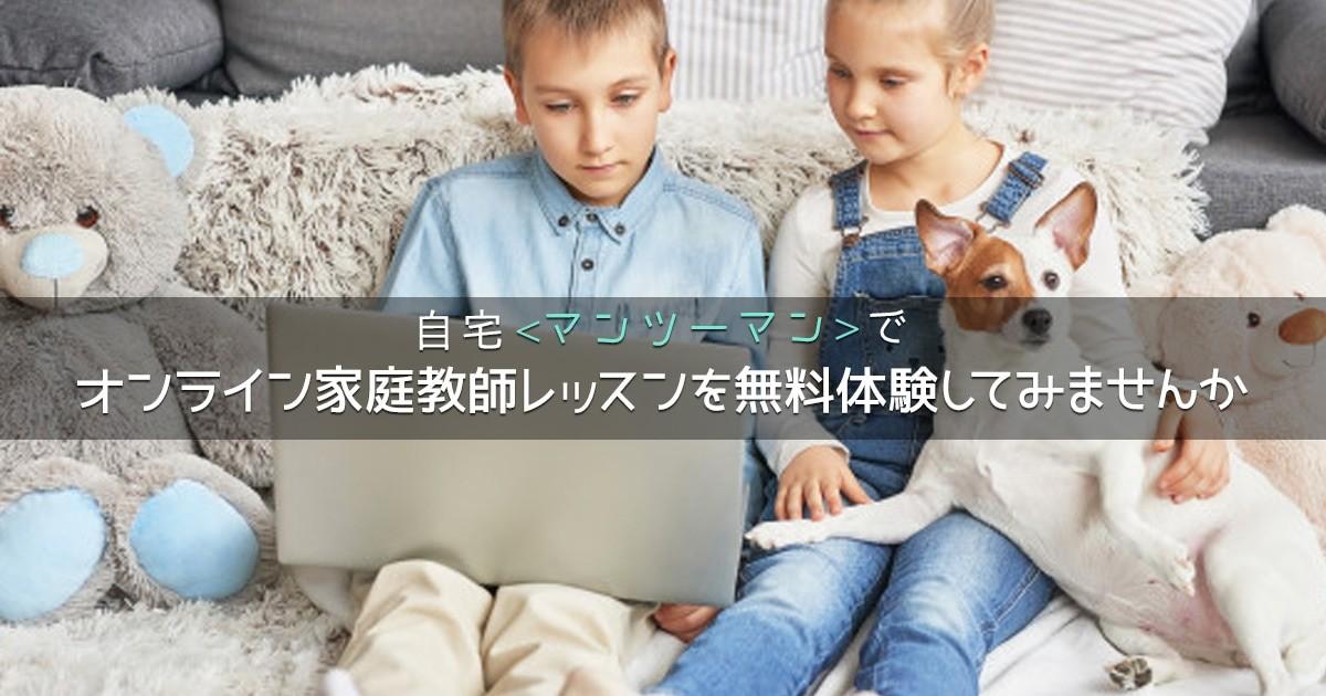 オンライン家庭教師レッスン、無料体験モニター最大10名様を大募集!