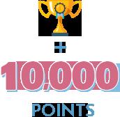 worth 10,000 points