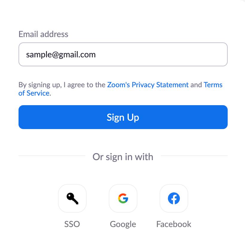 Click Sign Up