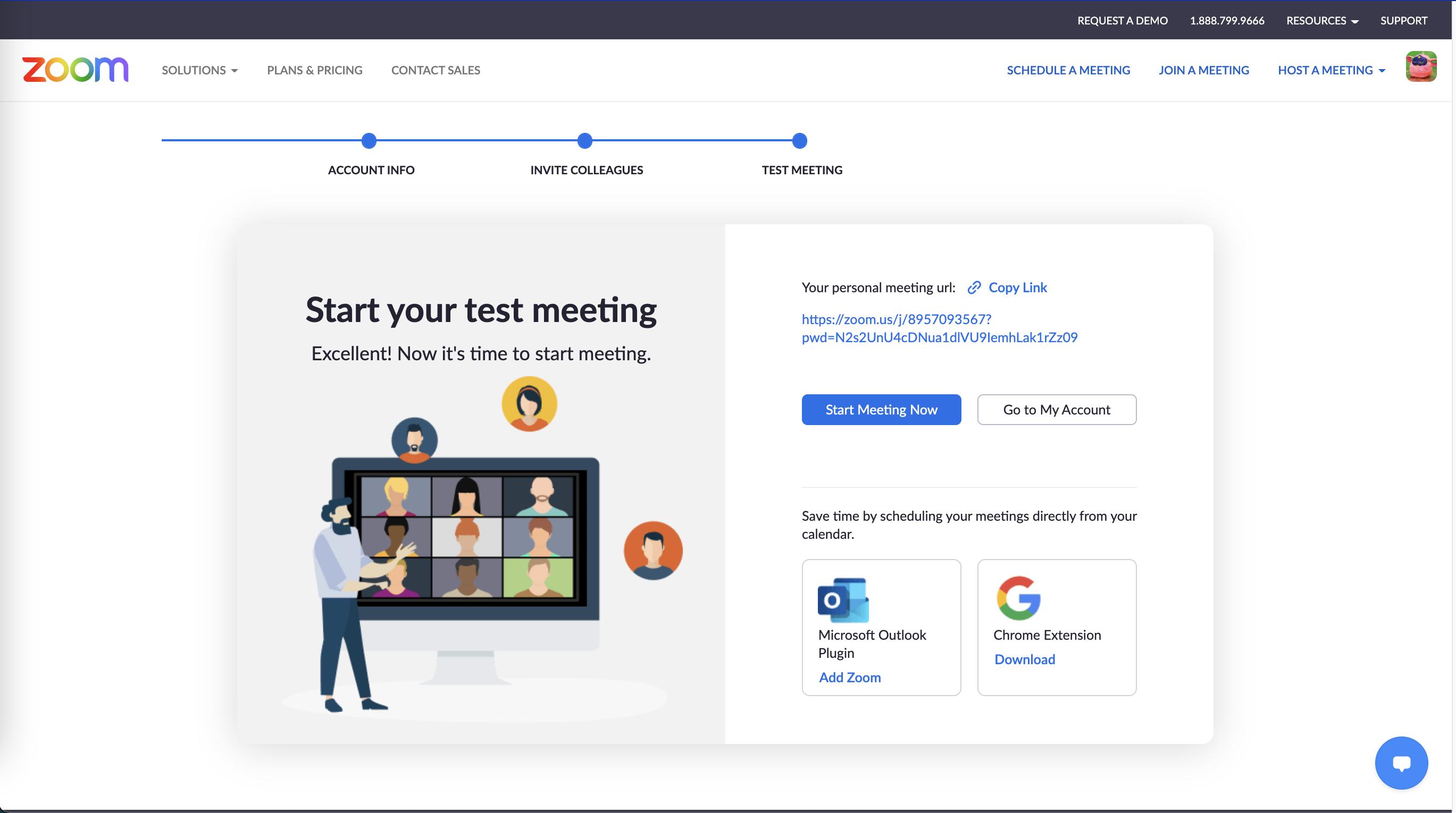 Starting Zoom Meeting